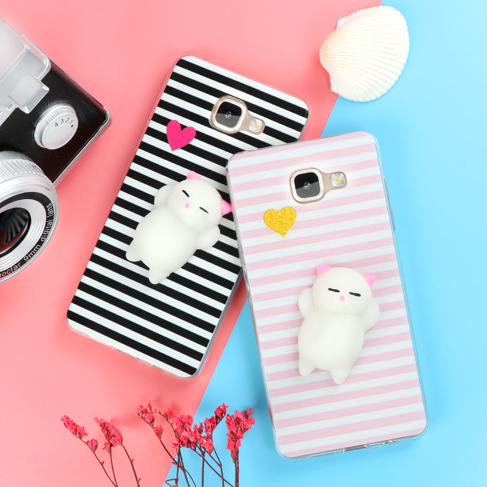 Squishy Cat Phone Case - Funny Cute Cat Squishy Phone Case for Samsung