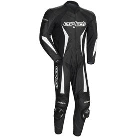 Cortech Latigo 2.0 RR Leather One-Piece Race Suit Black