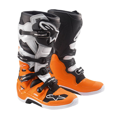 KTM Tech 7 MX Boots Size 12 White/Orange