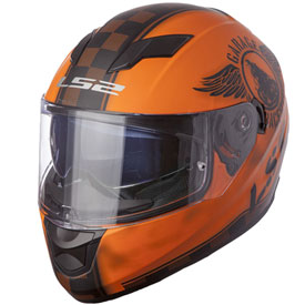 LS2 Stream Motorcycle Helmet Matte Orange