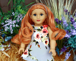 Zazou Dolls Exclusive Lovely WIG Rustic Ginger for 18 Inch dolls such as Journey, OG & American Girl