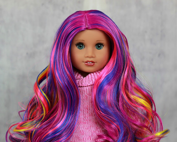 Zazou Dolls Exclusive Twilight WIG Sunset Glimmer for 18 Inch dolls such as  OG and American Girl