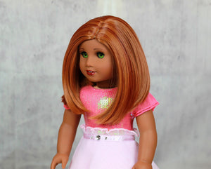 Zazou Dolls Exclusive Lily WIG Cayenne Spice for 18 Inch dolls such as Journey, OG and American Girl