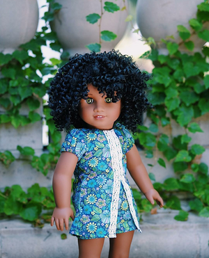 Zazou Dolls Exclusive BohoChic WIG  for 18 Inch dolls such as OG and American Girl
