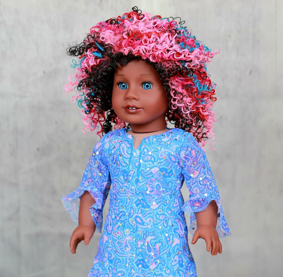 Zazou Dolls Exclusive BohoChic WIG Confetti for 18 Inch dolls such as OG and American Girl