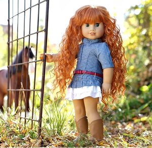 PREORDER: Zazou Dolls Exclusive WIG Carrots for 18 Inch dolls such as Journey and American Girl