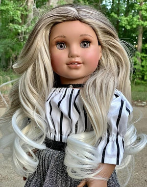 Zazou Dolls Exclusive Majesty WIG  Ombre SMores for 18 Inch dolls such as OG and American Girl
