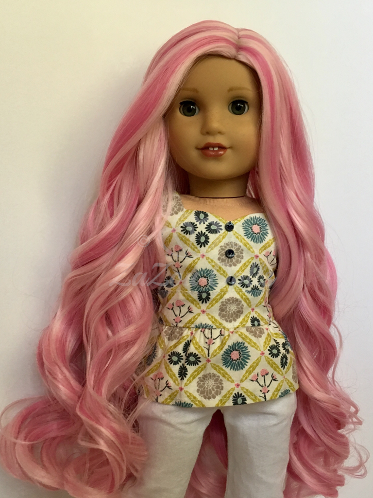 Zazou Dolls Exclusive Majesty WIG  Cotton Candy for 18 Inch dolls such as Journey, OG & American Girl