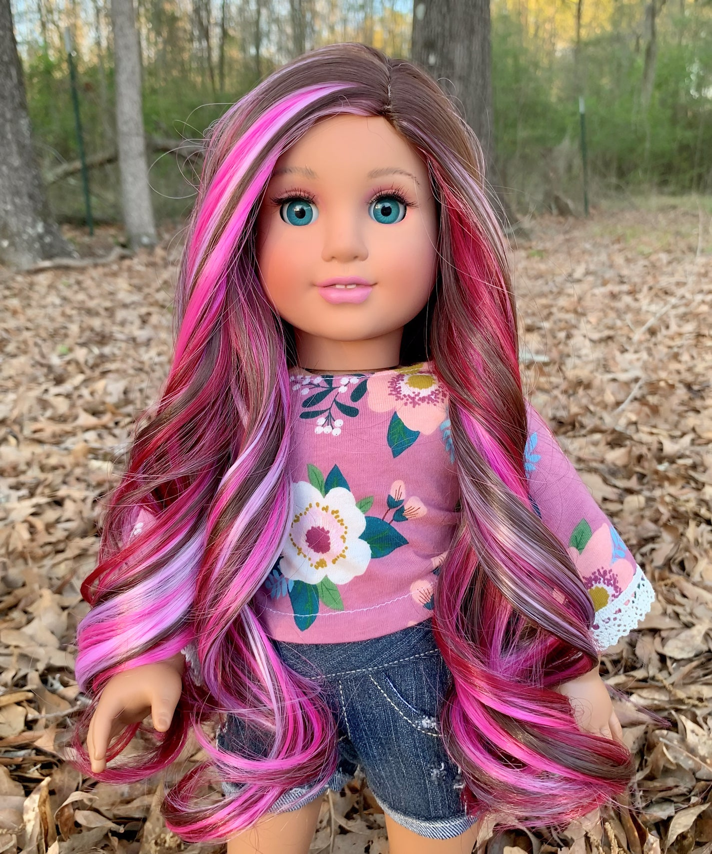 Zazou Dolls Exclusive Majesty WIG  Berry Twirl for 18 Inch dolls such as  OG & American Girl