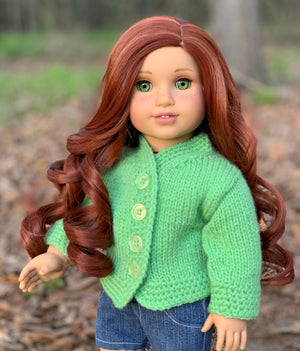 Zazou Dolls Exclusive Lovely WIG Blaire for 18 Inch dolls such as OG and American Girl