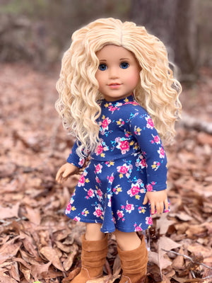 Zazou Dolls Exclusive BohoWaves WIG Chantilly for 18 Inch dolls such as OG & American Girl