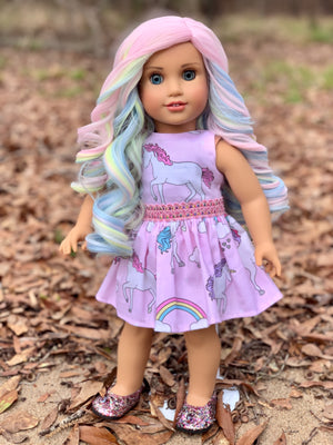 Zazou Dolls Exclusive Lovely WIG Citrus Pastel for 18 Inch dolls such as OG and American Girl