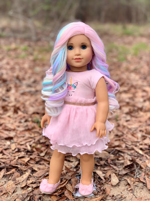 Zazou Dolls Exclusive Lovely WIG Taffy Pastel for 18 Inch dolls such as OG and American Girl