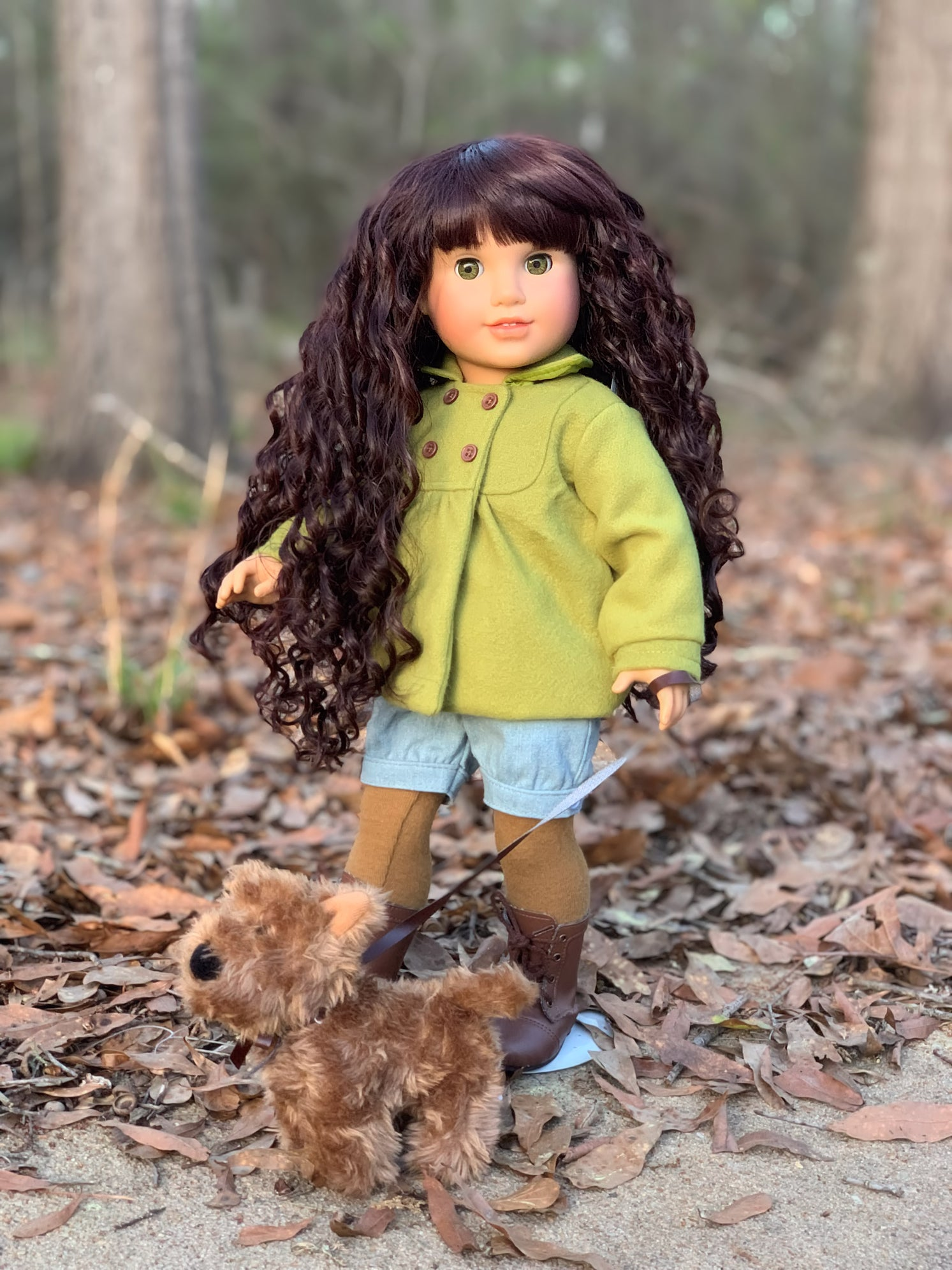 PREORDER: Zazou Dolls Exclusive WIG Midnight Ruby for 18 Inch dolls such American Girl