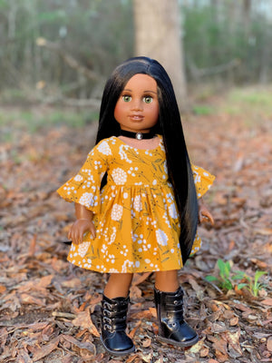 PREORDER: Zazou Dolls Exclusive WIG in Ebony for 18 Inch dolls such as Journey, OG and American Girl