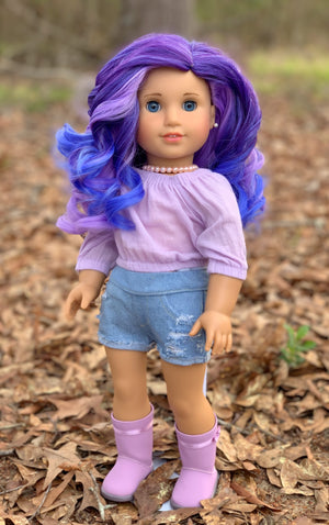 Zazou Dolls Exclusive Lovely WIG Moonlit Orchid for 18 Inch dolls such as OG and American Girl
