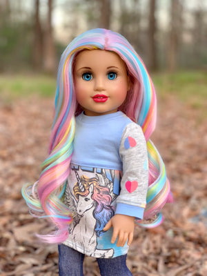 PREORDER: Zazou Dolls Exclusive WIG Sweetopia for 18 Inch dolls such as Journey & American Girl