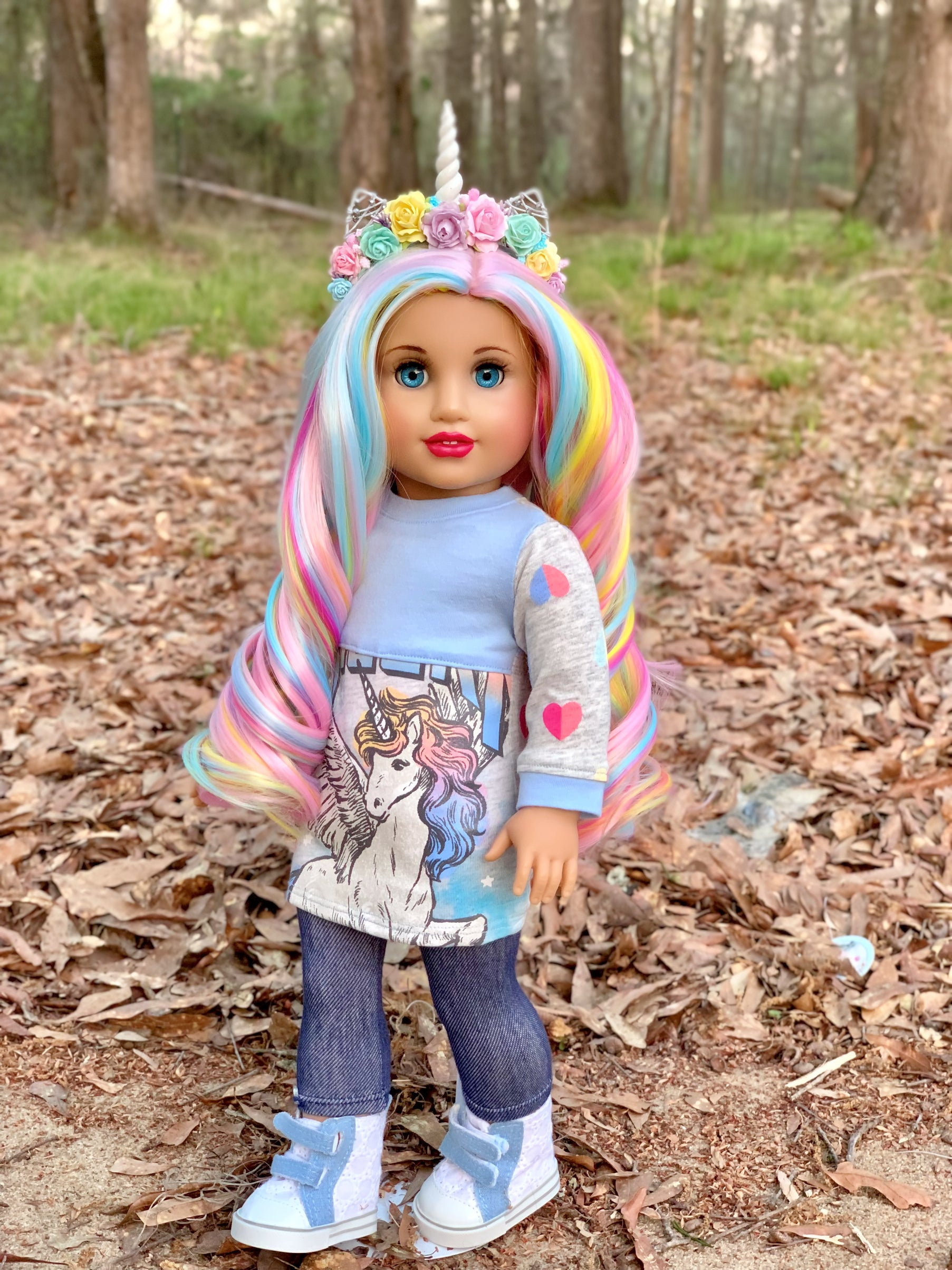 Zazou Dolls Exclusive Majesty WIG Sweetopia for 18 Inch dolls such as Journey & American Girl