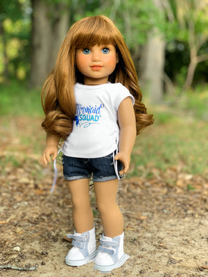 PREORDER: Zazou Dolls Exclusive Bailey WIG for 18 Inch dolls such as Journey, OG and American Girl