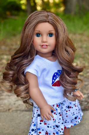 PREORDER: Zazou Dolls Exclusive Lovely WIG Sophia for 18 Inch dolls such as OG and American Girl