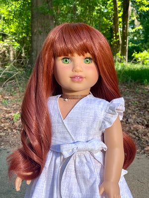 PREORDER: Zazou Dolls Exclusive WIG Crimson for 18 Inch dolls such as Journey, OG and American Girl