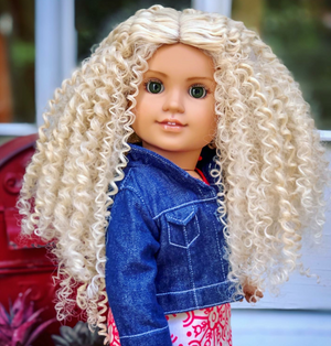 PREORDER: Zazou Dolls Exclusive WIG Vanilla for 18 Inch dolls such as Journey & American Girl