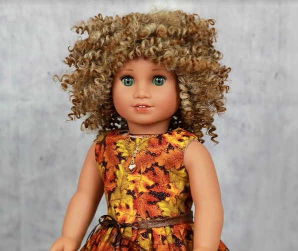 Zazou Dolls Exclusive BohoChic WIG Caramel for 18 Inch dolls such as OG and American Girl