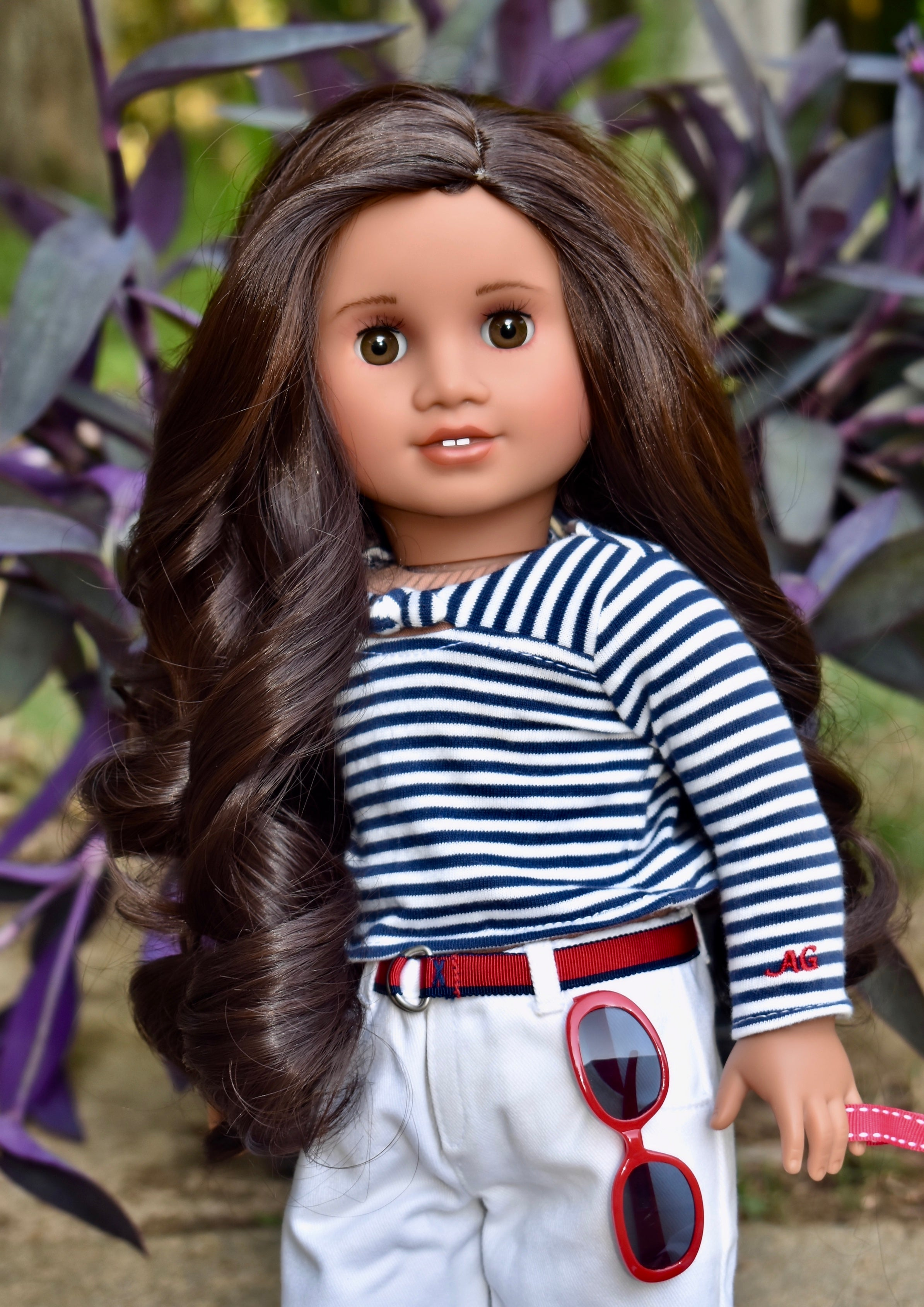 PREORDER: Zazou Dolls Exclusive Lovely WIG Cocoa Bean for 18 Inch dolls such as OG and American Girl