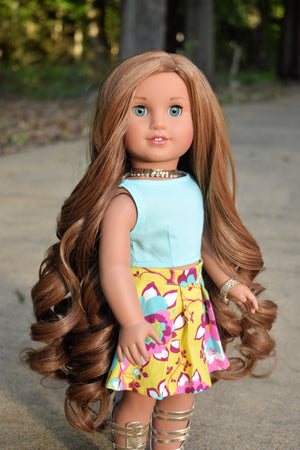 PREORDER: Zazou Dolls Exclusive WIG Caramel Whisk for 18 Inch dolls such as OG & American Girl