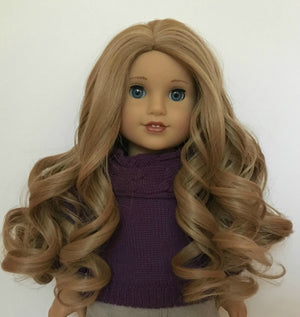 Zazou Dolls Exclusive Lovely WIG Champagne for 18 Inch dolls such as Journey and American Girl