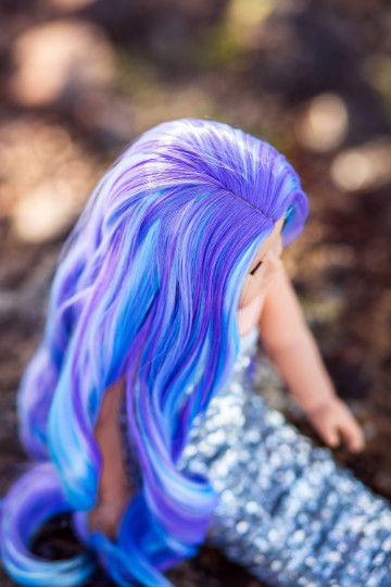 PREORDER: Zazou Dolls Exclusive WIG Lavender Sky for 18 Inch dolls such as American Girl