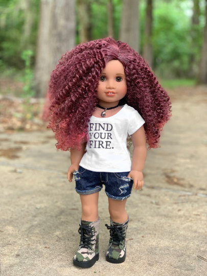 PREORDER: Zazou Dolls Exclusive WIG Cherry Bomb for 18 Inch dolls such as Journey, OG & American Girl
