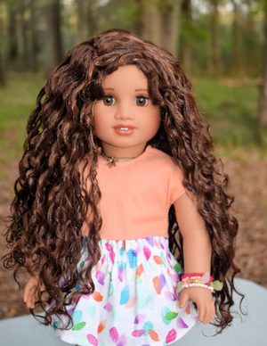 PREORDER: Zazou Dolls Exclusive  WIG Auburn chesnut for 18 Inch dolls such as American Girl