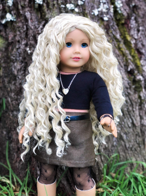 PREORDER: Zazou Dolls Exclusive  WIG Vanilla Drizzle for 18 Inch dolls such as  American Girl