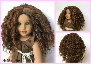 PREORDER: Zazou Dolls Exclusive  WIG Auburn Mix for 18 Inch dolls such as  American Girl