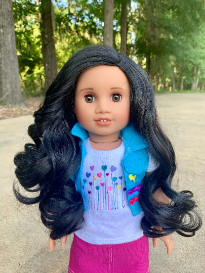 PREORDER: Zazou Dolls Exclusive Marci WIG for 18 Inch dolls such as Journey, OG & American Girl
