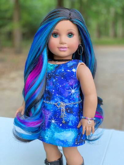 Zazou Dolls Exclusive Aurora WIG for 18 Inch dolls such as Journey, OG & American Girl