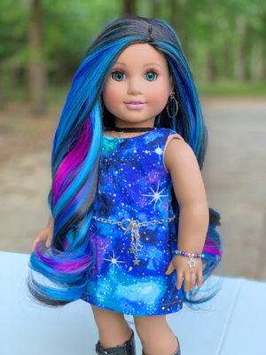 PREORDER: Zazou Dolls Exclusive Aurora WIG for 18 Inch dolls such as Journey, OG & American Girl