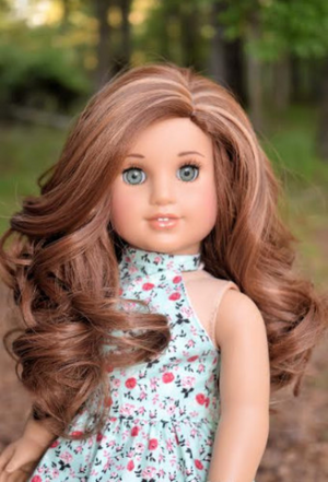 PREORDER: Zazou Dolls Exclusive  WIG Coconut Spice for 18 Inch dolls such as OG and American Girl