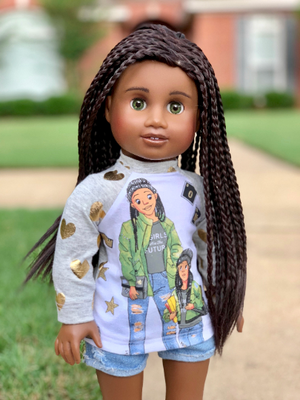 PREORDER: Zazou Dolls Braided Midnight Hickory for 18 Inch dolls such as American Girl AA!!