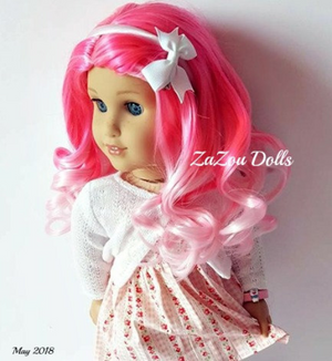 PREORDER: Zazou Dolls Exclusive  WIG Strawberry Shortcake for 18 Inch dolls such as American Girl
