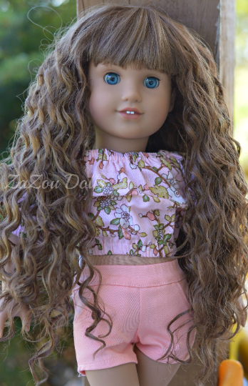 PREORDER: Zazou Dolls Exclusive  WIG  Hermoine for 18 Inch dolls such as OG and American Girl