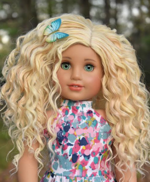 PREORDER: Zazou Dolls Exclusive BohoWaves WIG Chantilly for 18 Inch dolls  such as OG & American Girl