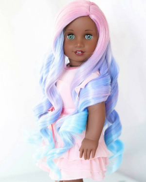 PREORDER: Zazou Dolls Exclusive WIG Unicorn Passion for 18 Inch dolls such as OG and American Girl