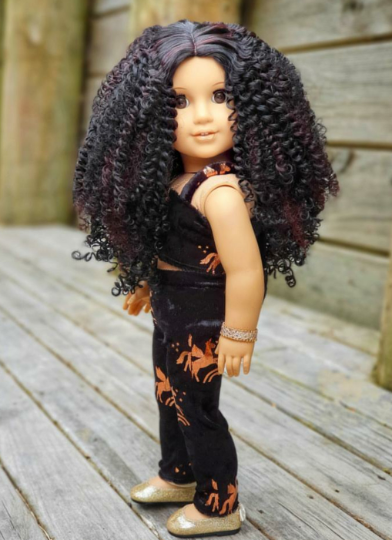 PREORDER: Zazou Dolls Exclusive WIG Black Cherry for 18 Inch dolls such as Journey & American Girl