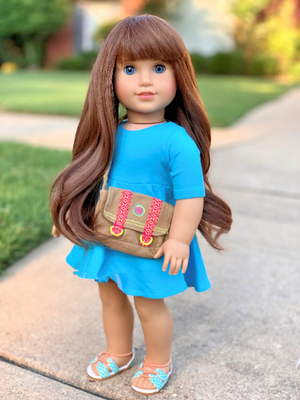 PREORDER: Zazou Dolls Exclusive WIG Choco Brown for 18 Inch dolls such as American Girl