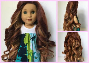 Zazou Dolls Exclusive Majesty WIG Garnet Sun for 18 Inch dolls such as Journey and American Girl