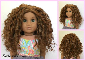 Zazou Dolls Exclusive WIG in Sunkissed Brown for 18 Inch dolls such as Journey, OG and American Girl