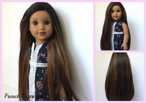 PREORDER: Zazou Dolls Exclusive WIG French Expresso for 18 Inch dolls such as American Girl