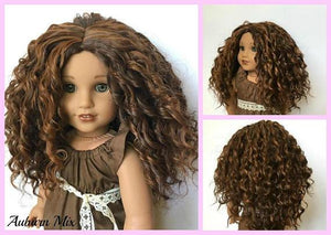 Zazou Dolls Exclusive Bohemian Waves WIG for 18 Inch dolls such as Journey, OG and American Girl